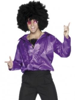 de0284b90c5 Saténová fialová košile (70. léta) - Nejlevnější Kostýmy